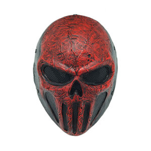 "Wire Mesh ""Skull Punisner"" Red Party Mask (WS20933) pictures & photos"