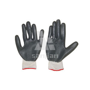 13 Gauge Polyester Nylon Nitrile Industrial Glove pictures & photos