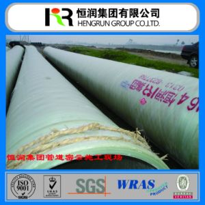 Reinforced Plastic Mortar Pipe/ GRP FRP Pipe with Wras / ISO Certificate pictures & photos