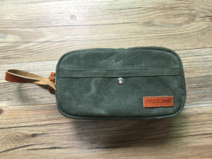 Custom High Quality Dopp Kit Waxed Canvas Leather pictures & photos