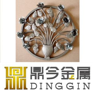 Wrought Iron Hot Forged Flower for Garden Decoration pictures & photos