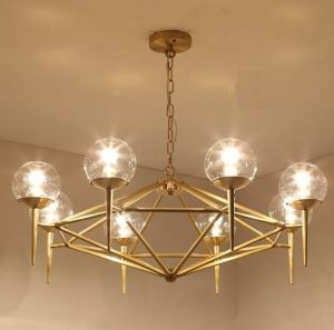 Metal Glass Chandelier (WHG-619) pictures & photos