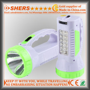 Rechargeable 1W LED Torch with 12 LED Desk Lamp (SH-1958) pictures & photos