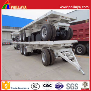 Fuel Tank 4 Wheels Full Trailer Lorry pictures & photos