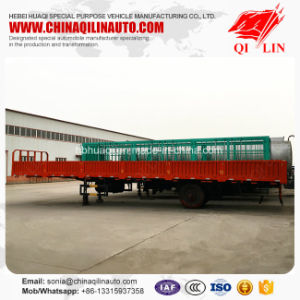 60 Tons Container Dropside Flatbed Semi Trailer for Africa pictures & photos