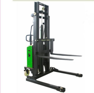 Semi-Electric Stacker with Adjustable Fork (SESA) pictures & photos