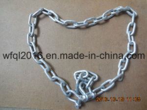 Galvanized Steel Anchor Lead Chain with Shackle