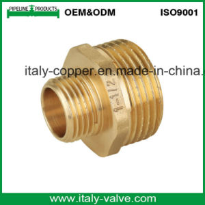ISO9001 Certified Brass Forged Straight Nipple/Pipe Fitting (AV9001) pictures & photos