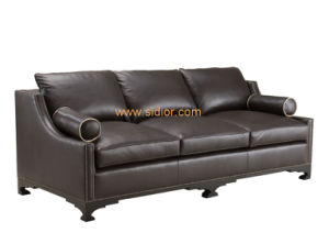 (CL-6619) Classic Restaurant Hotel Living Room Furniture Leather Sofa pictures & photos