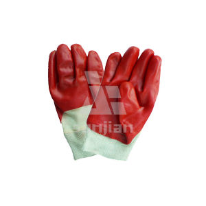 Flat Nitrile Finish Jersey Cotton Gloves pictures & photos