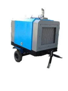7bar Diesel Driven Portable Screw Air Compressor pictures & photos