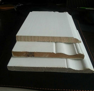 White Primed Lacquered Radiata Pine Finger Joint Boards Moulding pictures & photos