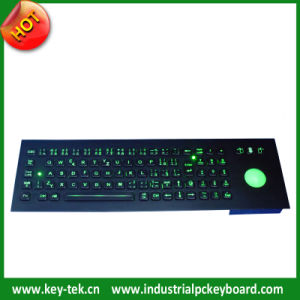 IP65 Vandal Proof Stainless Steel Keyboard with Trackball (K-TEK-A400-CTB-KP-BT-BL)