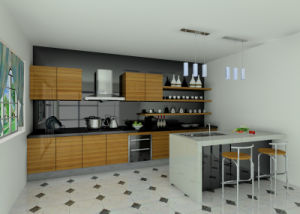 UV High Glossy Kitchen Cabinet (Br-U001) pictures & photos
