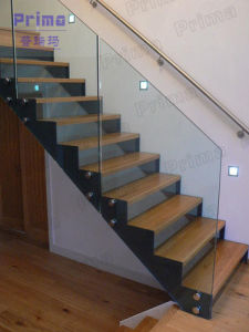 Frameless Glass Balustrade with Stainless Steel Handrails pictures & photos
