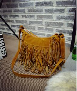 Hot Sale Fashion Colleage Girls Hand Bags with Tassel for Lady