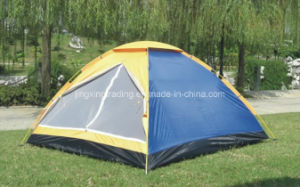 190t Comfortable 100% Polyester Camping Tent for 3 Persons (JX-CT002) pictures & photos