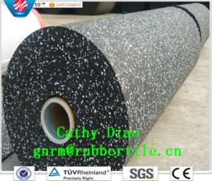 China Factory Supply Sound Insulation Cheap Gym Rubber Roll, Gym Rubber Flooring, Rubber Gym Flooring, EPDM Gym Rubber Floor pictures & photos
