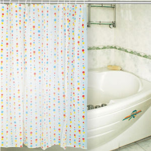 Hookless Printing Fabric Design PEVA Shower Curtain pictures & photos