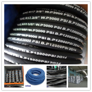 SAE / DIN Standard Steel Wire Braid Rubber R17 Hydraulic Hose pictures & photos