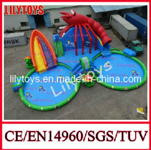 Inflatable Land Water Parks/Shrimp Water Parks with Pool pictures & photos