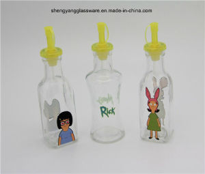 Cartoon Glass Oil Bottle with Plastic Lid pictures & photos