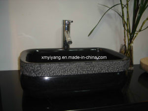 Black Granite Vanity Top Sinks/Wash Basin