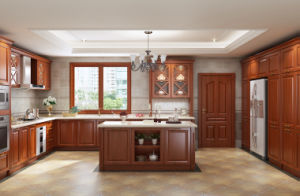 2017 Star Product Solid Wood Kitchen Cupboard (zq-029)
