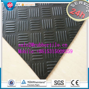 Industrial Cloth Insertion Rubber Sheet, Checker Rubber Sheet Runners pictures & photos