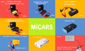 2017 High Quality Ce RoHS 19V Multi-Function Mini Jump Starter 12V Car pictures & photos