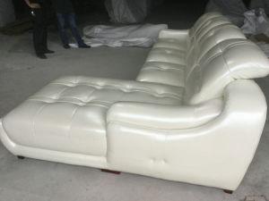 New Arrival L Shape Leather Sofa, Modern Living Room Sofa (A849) pictures & photos