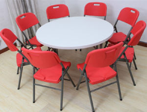 Folding Plastic Round Restaurant Dining Meeting Wedding Table (SY-122Y) pictures & photos