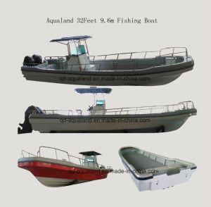 China Aqualand 32feet 9.6m Fiberglass Fishing Boat/Panga Boat (320PRO) pictures & photos