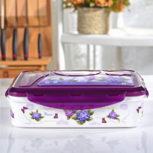 Food Multifunctional Flower Plastic Sealing Lunch Box pictures & photos