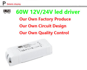 Ce, IEC LED Driver 12V 60W 5AMPS, LED Power Supply 12V 60W, High Power Factor LED Power Supply, PF>0.95, for LED Strips, LED Driver, Power Supply pictures & photos