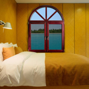 Foshan Wooden Grain Aluminum Double Glazed Casement Windows pictures & photos