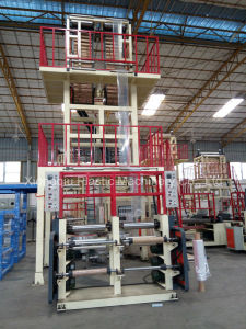Single Extruder Double Die Head Film Blowing Machine pictures & photos