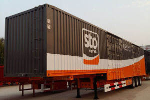 Lightweight 48feet 15meters Bulk Cargo Semi Trailer Express Type pictures & photos