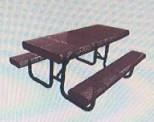 Radial Edge Perforated Metal Picnic Table pictures & photos