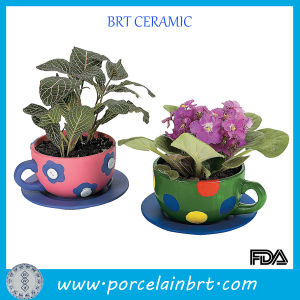 New Life Flower Pot Teacup Planters pictures & photos