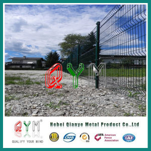 Wire Fence/Galvanized and Polyester Powder Coated/Welded Fence with Folds pictures & photos