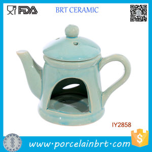 Teapot Shape Oil Burner with Lid Cheap Ceramic pictures & photos