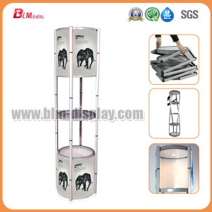 Folding Exhibition Screen Spiral Tower Showcase