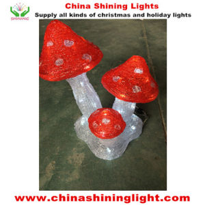 Euro Standard Ce RoHS UL SAA Mushroom Acrylic LED Christmas Lights pictures & photos