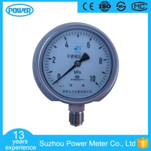 100 mm Bottom Connection Stainless Steel Manometer with Flange Mounting pictures & photos