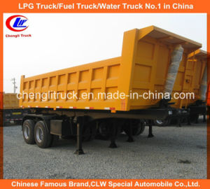 Heavy Duty 2 Axle Square Shape End Tipper/ Dump Truck Trailer pictures & photos