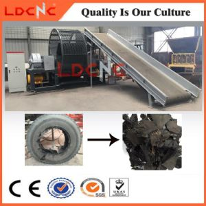 Automatic Waste Tire Shredder Recycling Machine Equipment with Rubber Powder Production Line pictures & photos