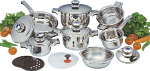 High Qualtiy 16PCS Stainless Steel Cookware Set (CS116004) pictures & photos