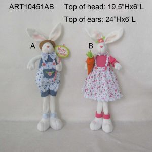 Standing Boy and Girl Bunny Decoration Gift Easter pictures & photos