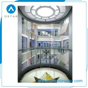 Round-Shaped and Glass Observation Lift, Panoramic Passenger Elevator pictures & photos